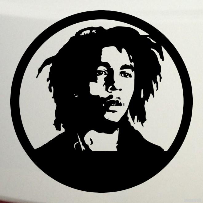 Наклейка Боб Марли, ямайский певец 2
