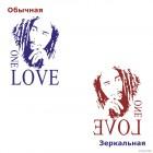 Наклейка Боб Марли, ямайский певец One Love