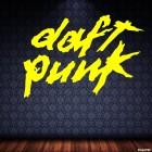 Наклейка Daft Punk французский музыкальный электронный дуэт