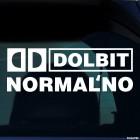 Наклейка Dolbit Normalno пародия на Dolby Digital