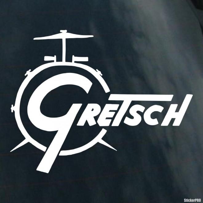 Наклейка Gretsch производитель гитар, бас-гитар и ударных музыкальных инструментов