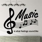 Наклейка Music is what feelings sound like Музыка это то как звучат чувства