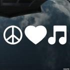 Наклейка Пацифик, Сердце и Ноты инфографика