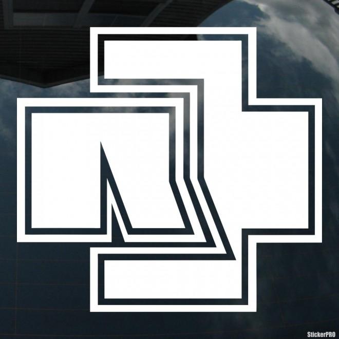 Наклейка Rammstein немецкая метал-группа