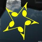 Наклейка звезда из нот