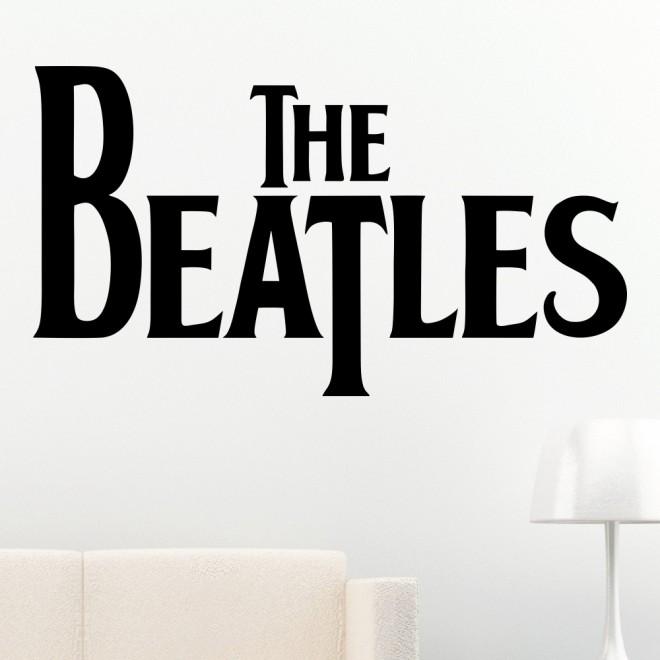 Наклейка The Beatles английская музыкальная рок группа