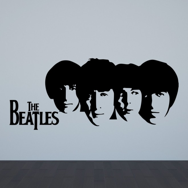 Наклейка The Beatles Джон Леннон, Пол Маккартни, Джордж Харрисон и Ринго Старр