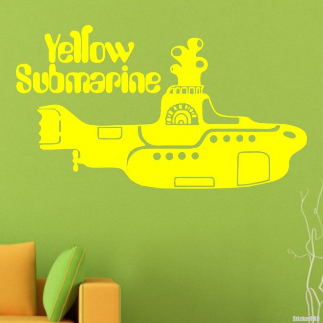 Наклейка The Beatles Yellow Submarine