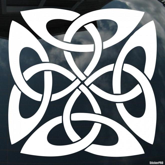 Наклейка кельтский бесконечный узел орнамент 11