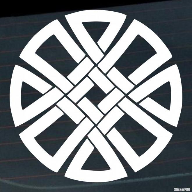 Наклейка кельтский бесконечный узел орнамент 9