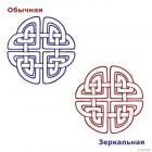 Наклейка кельтский бесконечный узел орнамент 7