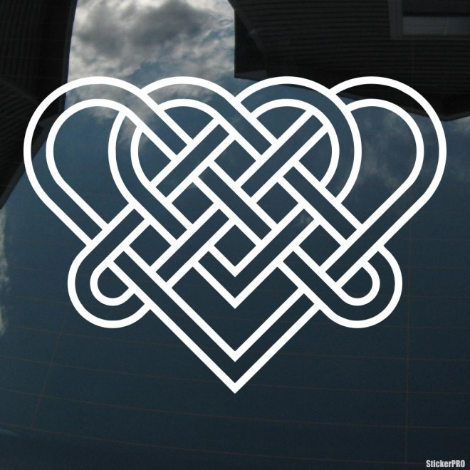 Наклейка кельтский бесконечный узел орнамент 2