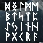 Наклейка кельтские руны орнамент