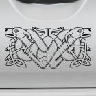 Наклейка 2 собаки кельтский бесконечный узел орнамент