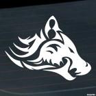 Наклейка волк кельтский узор орнамент татуировка