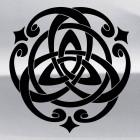 Наклейка кельтский бесконечный узел орнамент