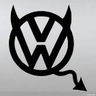 Наклейка VW Volkswagen дьяволенок с рожками и хвостом