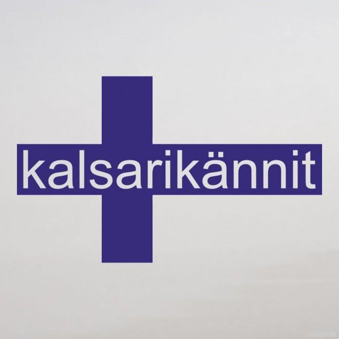 Наклейка kalsarikännit финский флаг крест