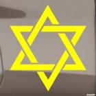 Наклейка звезда Давида Иудаизм