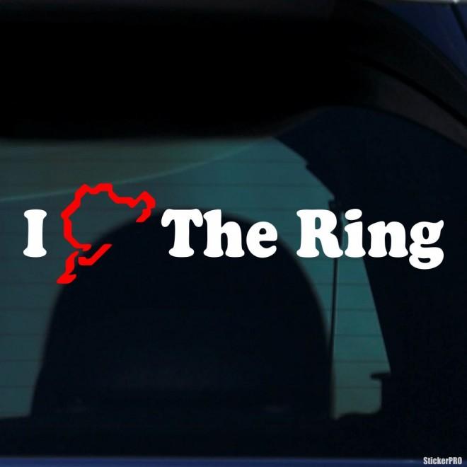 Наклейка I Нюрбургринг The Ring