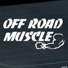 Наклейка off road muscle