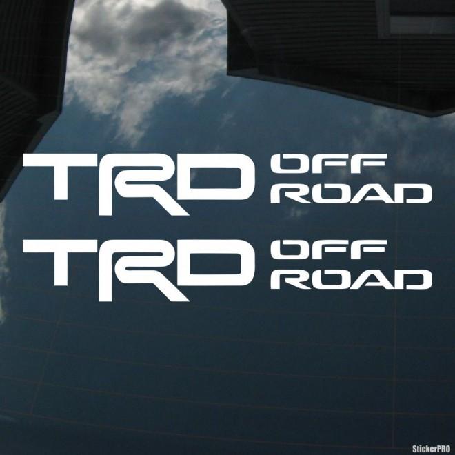 Наклейка Toyota TRD off road