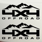 Наклейка 4x4 offroad горы