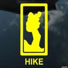 Наклейка горный туризм HIKE