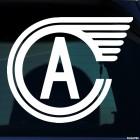 Наклейка Автомобилист хоккейный клуб Екатеринбург колесо А, зимние виды спорта