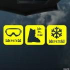 Наклейка Шерегеш маска, ботинок, снежинка, экстремальные зимние виды спорта