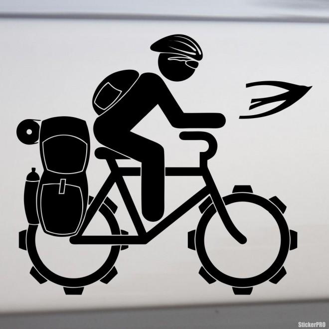 Наклейка велосипедный туризм
