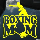 Наклейка Boxing Mom (боксирующая мамаша)