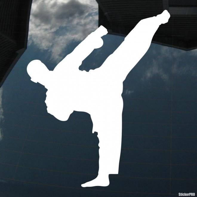 Наклейка каратист удар ногой 3