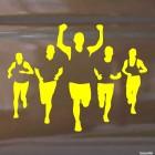 Наклейка 5 легкоатлетов на финише бег