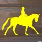 Наклейка конкур лошадь и наездница, конный спорт