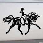 Наклейка конкур девочка на лошади, конный спорт
