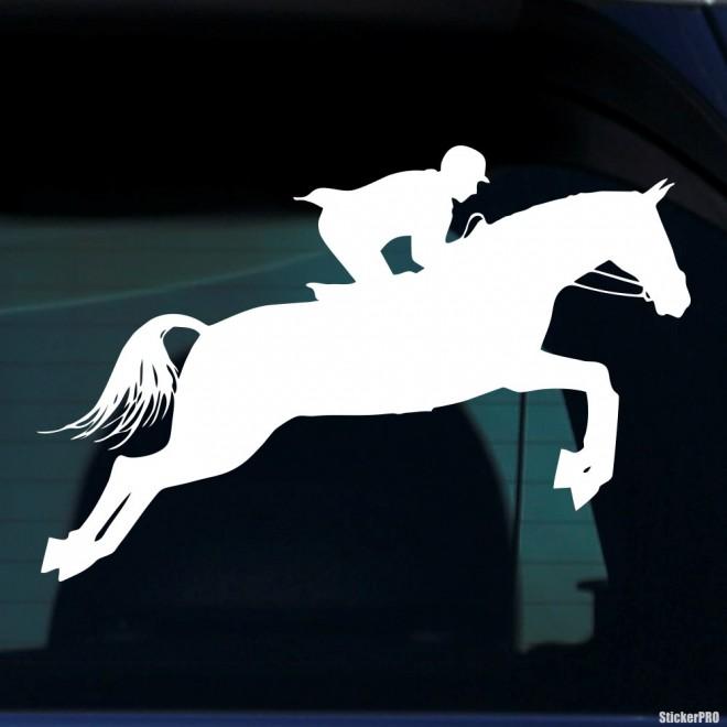 Наклейка конкур лошадь и наездник