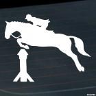 Наклейка конкур через препятствие, конный спорт