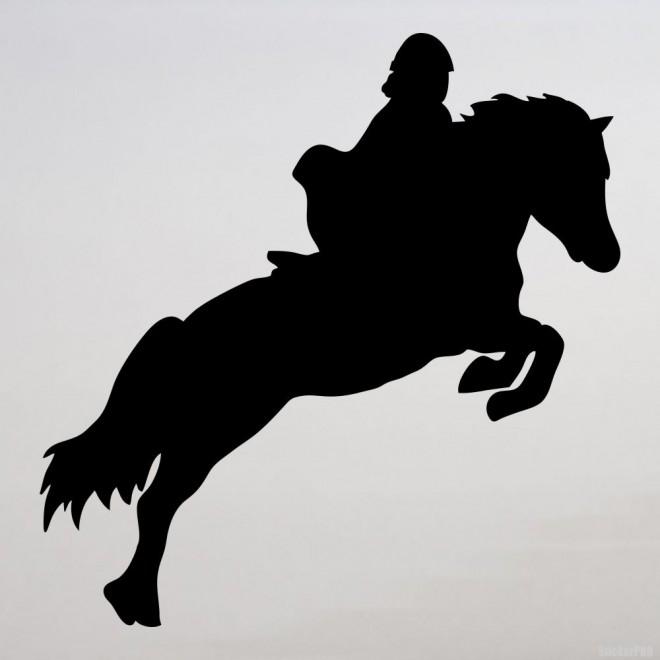 Наклейка конкур лошадь и всадник, конный спорт