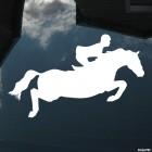 Наклейка конкур лошадь и наездник, конный спорт
