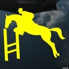 Наклейка конкур прыжок через препятствие, конный спорт