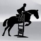 Наклейка конкур в прыжке через препятствие, конный спорт