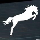 Наклейка конкур лошадь в прыжке, конный спорт