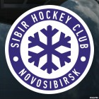 Наклейка SIBIR Hockey Club Novosibirsk логотип со снежинкой, с подложкой