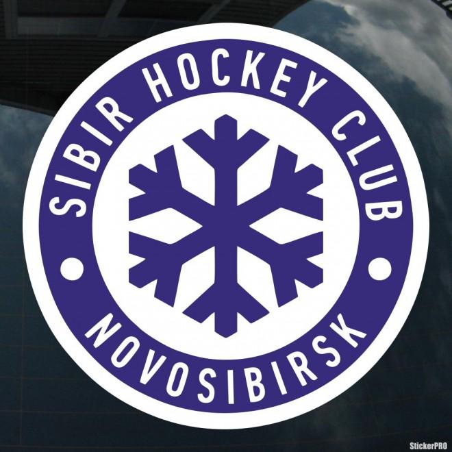 Наклейка SIBIR Hockey Club Novosibirsk логотип со снежинкой, с подложкой