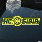 Наклейка SIBIR Hockey Club Novosibirsk лого со снежинкой, зимние виды спорта