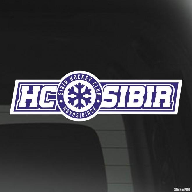 Наклейка SIBIR Hockey Club Novosibirsk лого со снежинкой, с подложкой