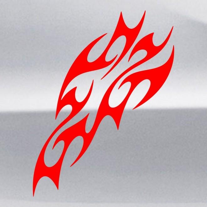 Наклейка пламя флэймз 4