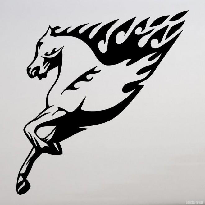 Наклейка лошадь пламя флэймз