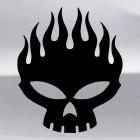 Наклейка череп с пламенем флэймз